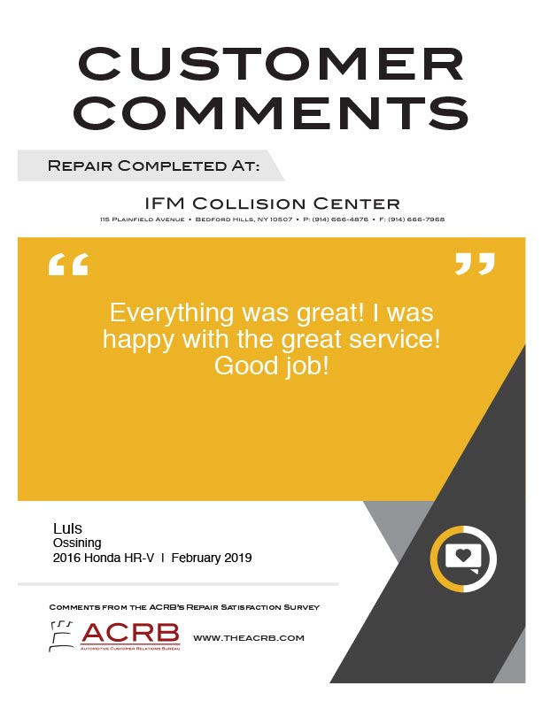 Customer Comment